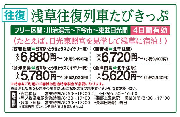 浅草往復列車たびきっぷ